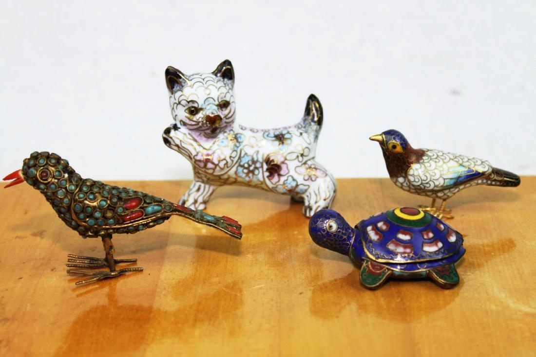 4 Antique Cloisonne items