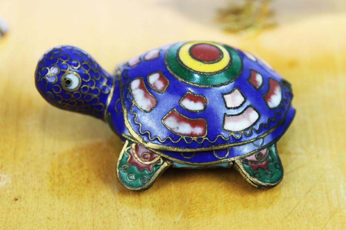 4 Antique Cloisonne items - 6