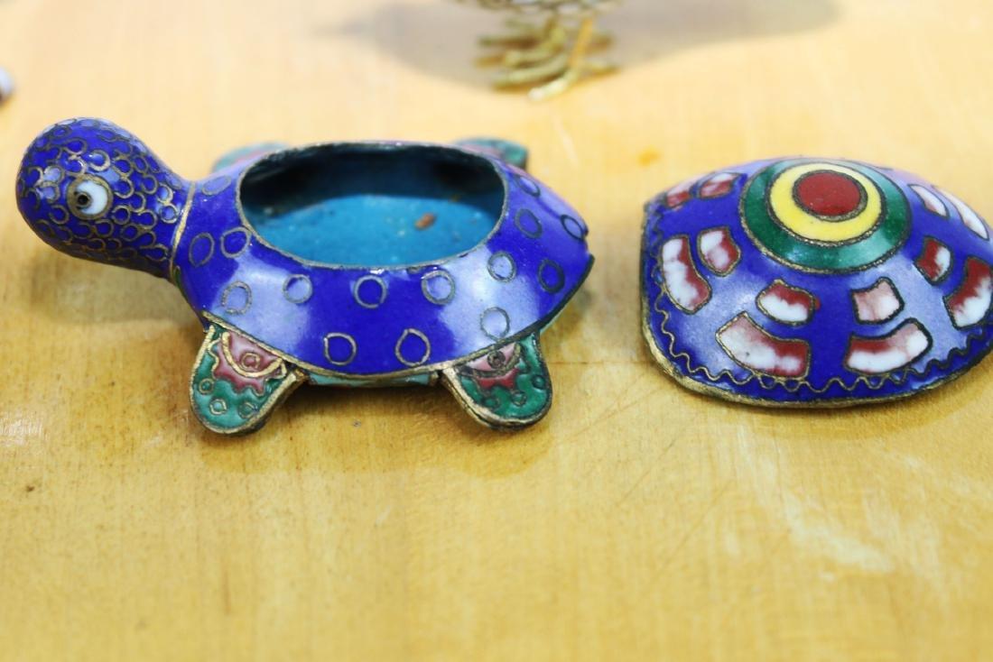 4 Antique Cloisonne items - 7