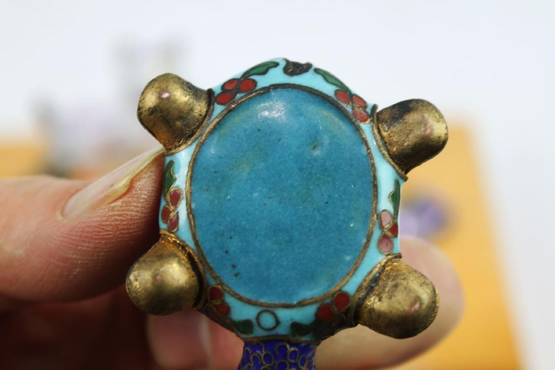 4 Antique Cloisonne items - 8