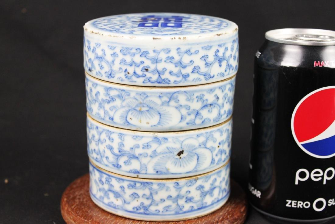 Antique Chinese Double-Joy Porcelain Tray