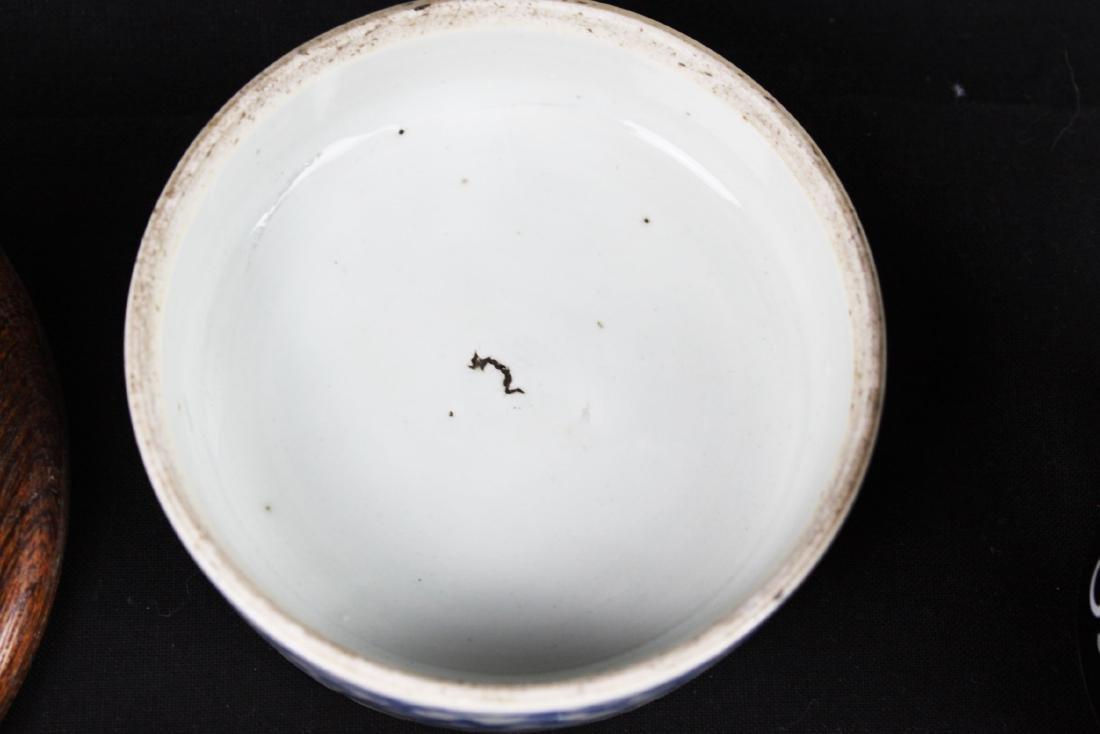 Antique Chinese Double-Joy Porcelain Tray - 6