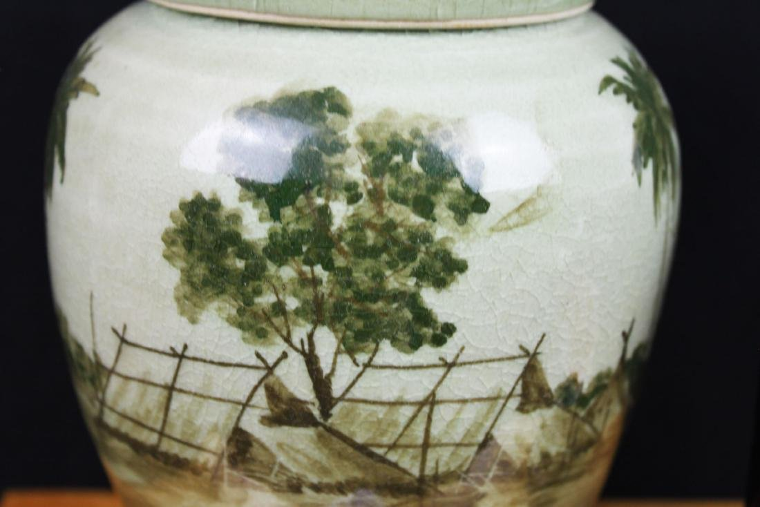Antique Chinese Porcelain Jar - 8