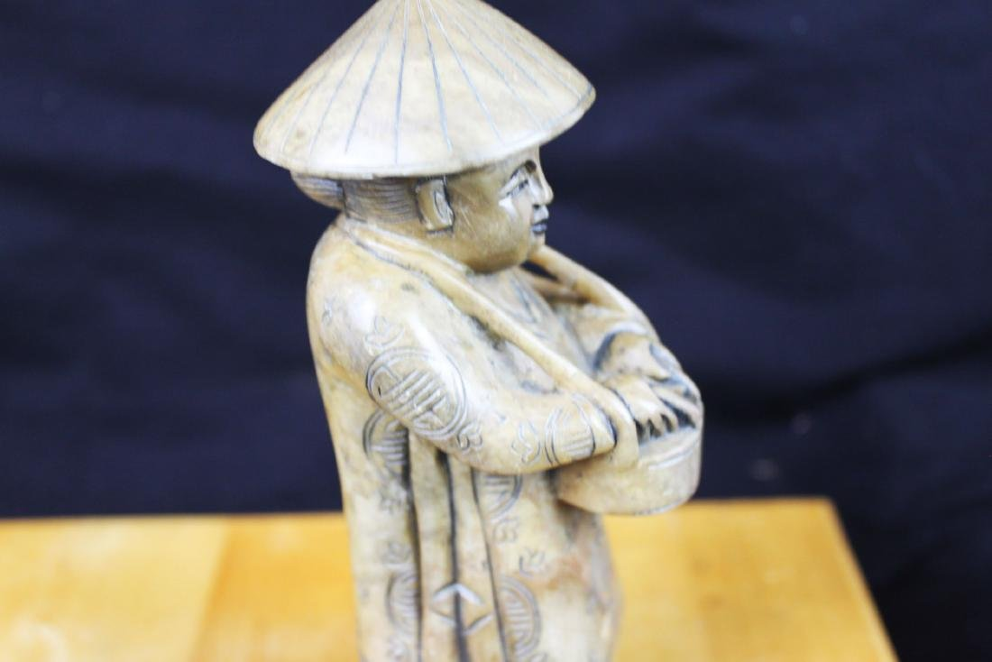 A Pair Hand Carved Statue - 10