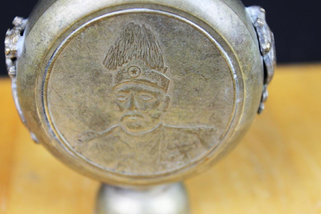 Antique Chinese Bronze Snuff Bottle - 3