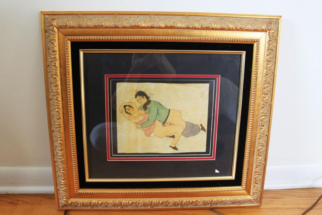 Antique Chinese Adult Painting