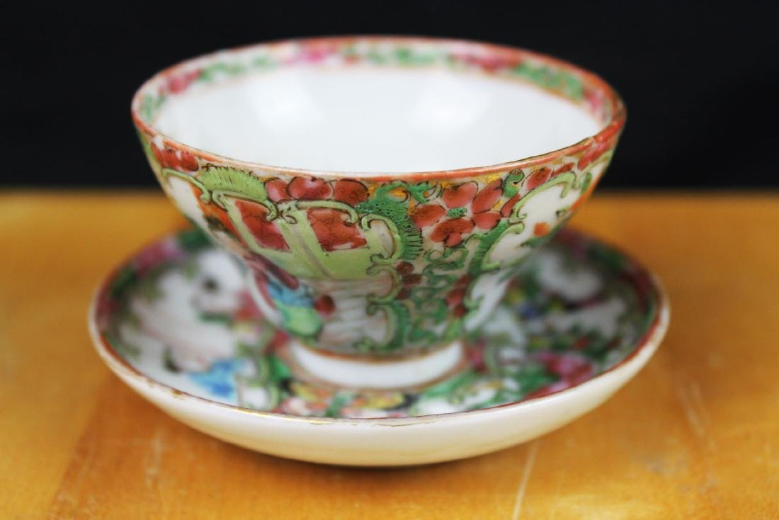 Antique Chinese Famillie Rose Porcelain Tea Cup