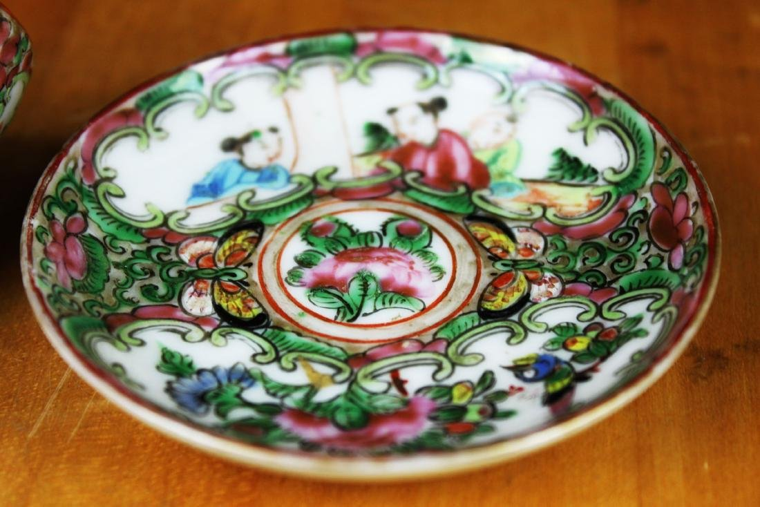 Antique Chinese Famillie Rose Porcelain Tea Cup - 3