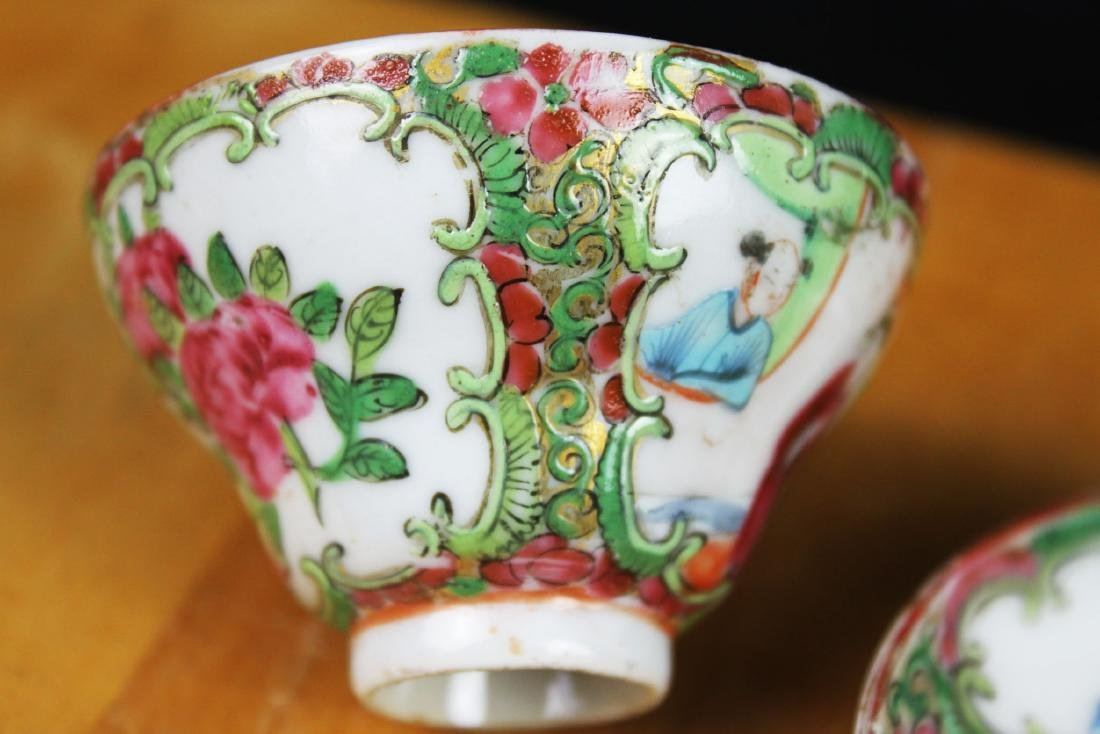 Antique Chinese Famillie Rose Porcelain Tea Cup - 4