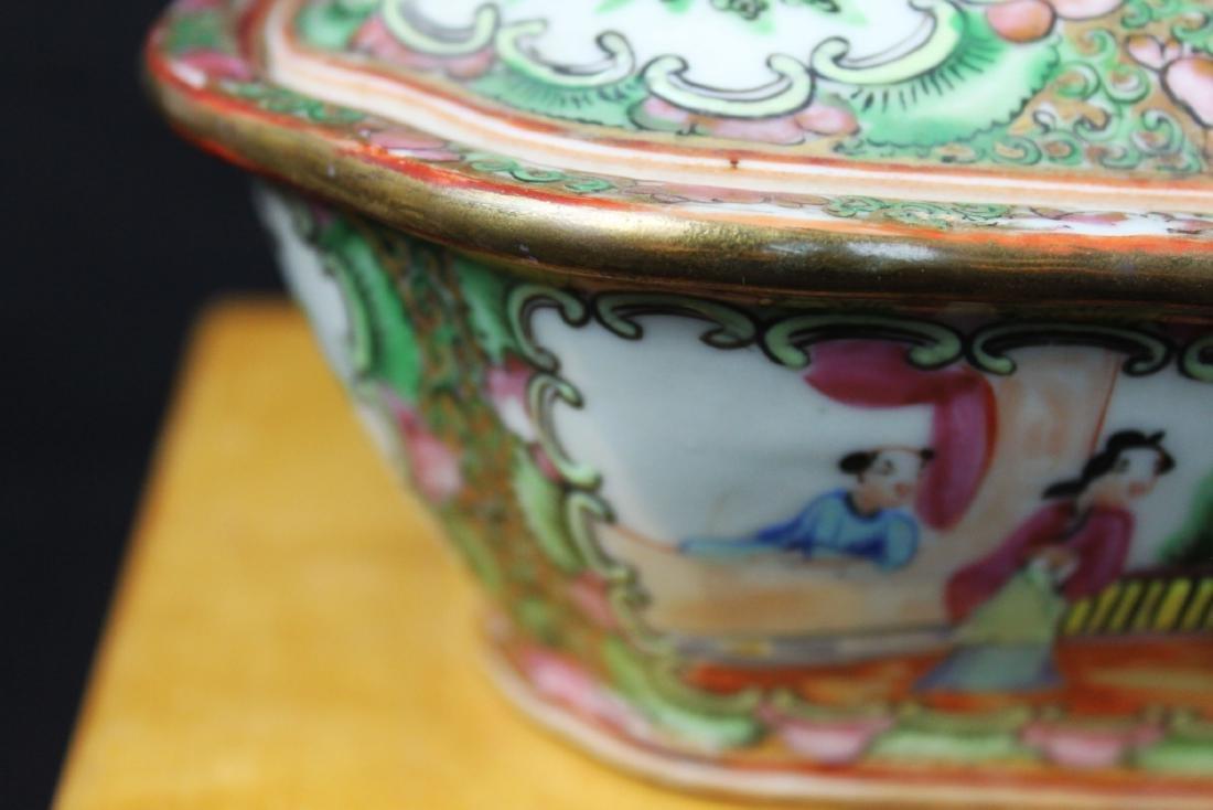 Anituqe Chinese Famillie Rose Porcelain Bowl - 2