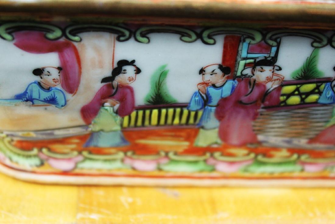 Anituqe Chinese Famillie Rose Porcelain Bowl - 3