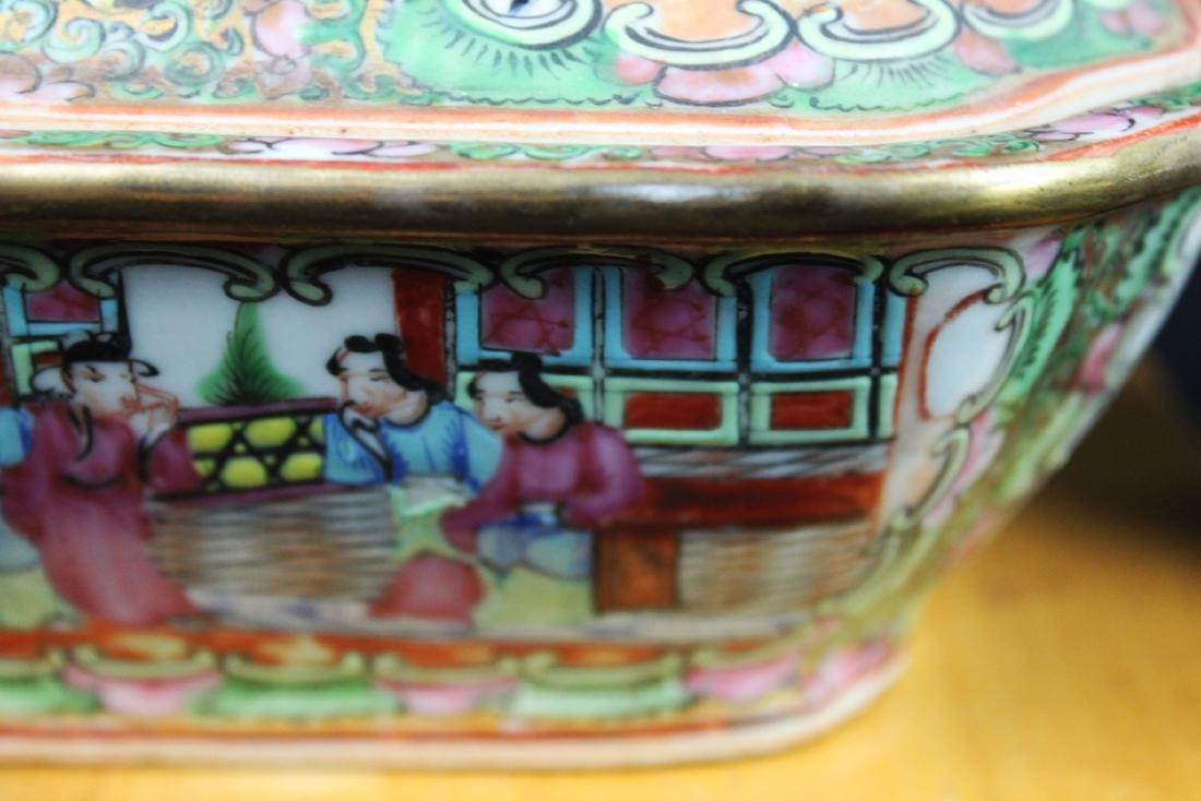 Anituqe Chinese Famillie Rose Porcelain Bowl - 4