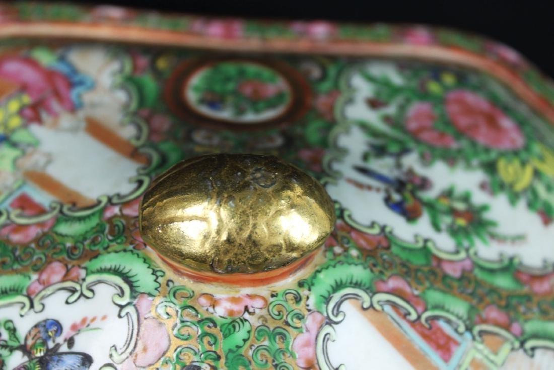 Anituqe Chinese Famillie Rose Porcelain Bowl - 6