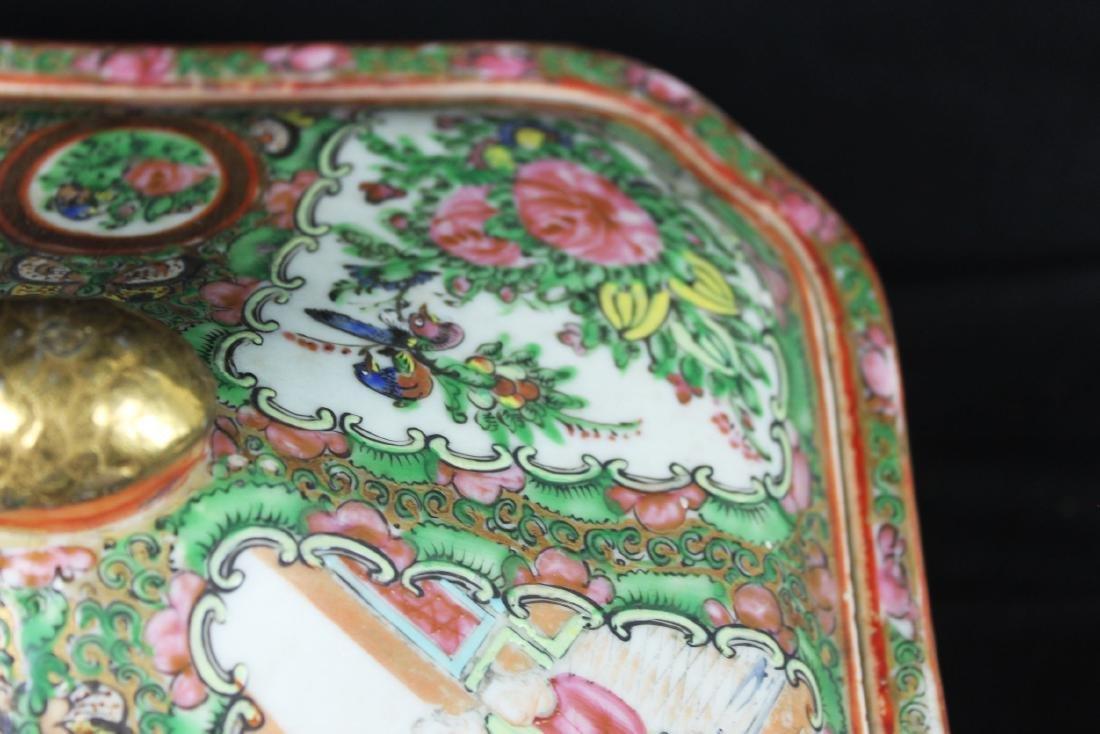Anituqe Chinese Famillie Rose Porcelain Bowl - 7
