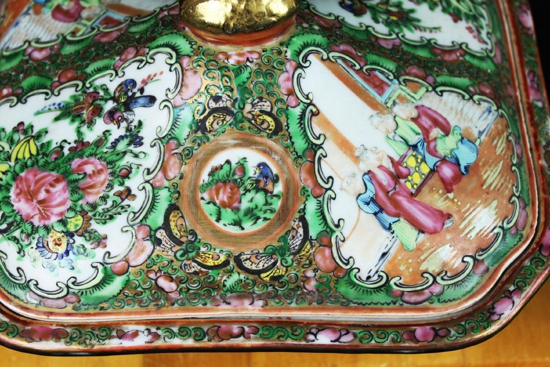 Anituqe Chinese Famillie Rose Porcelain Bowl - 8