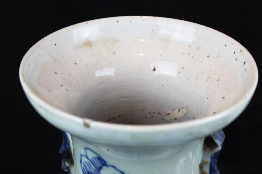 Antique Chinese Blue&White Porcelain Vase - 2