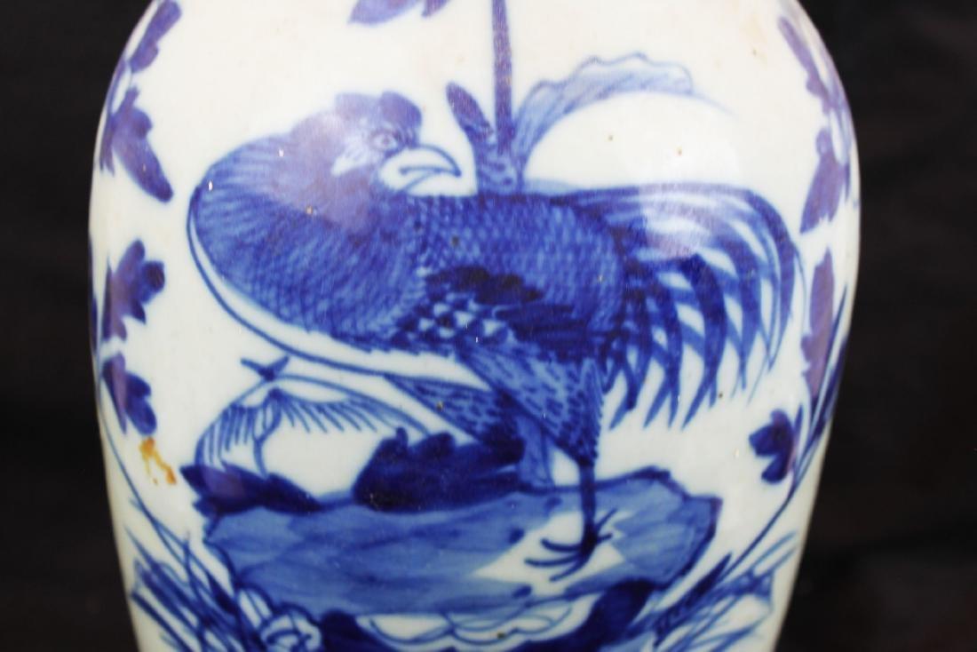 Antique Chinese Blue&White Porcelain Vase - 4