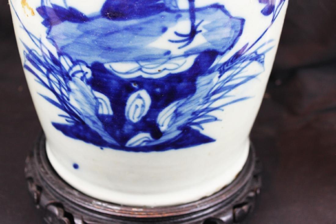 Antique Chinese Blue&White Porcelain Vase - 5