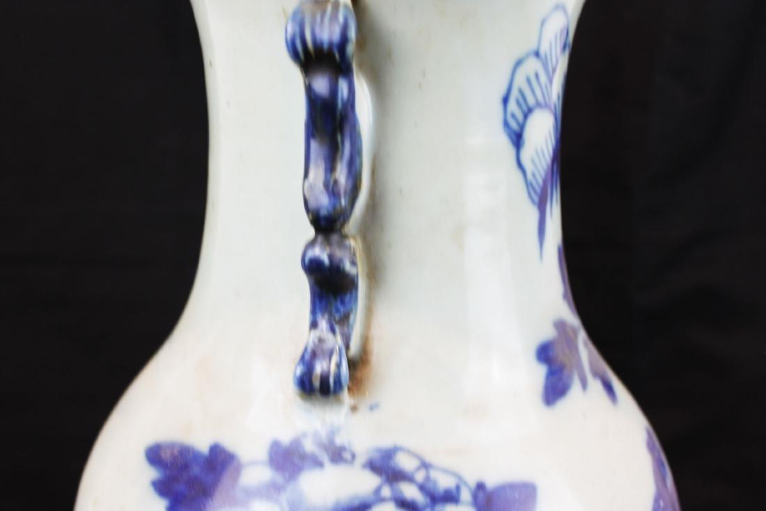Antique Chinese Blue&White Porcelain Vase - 7