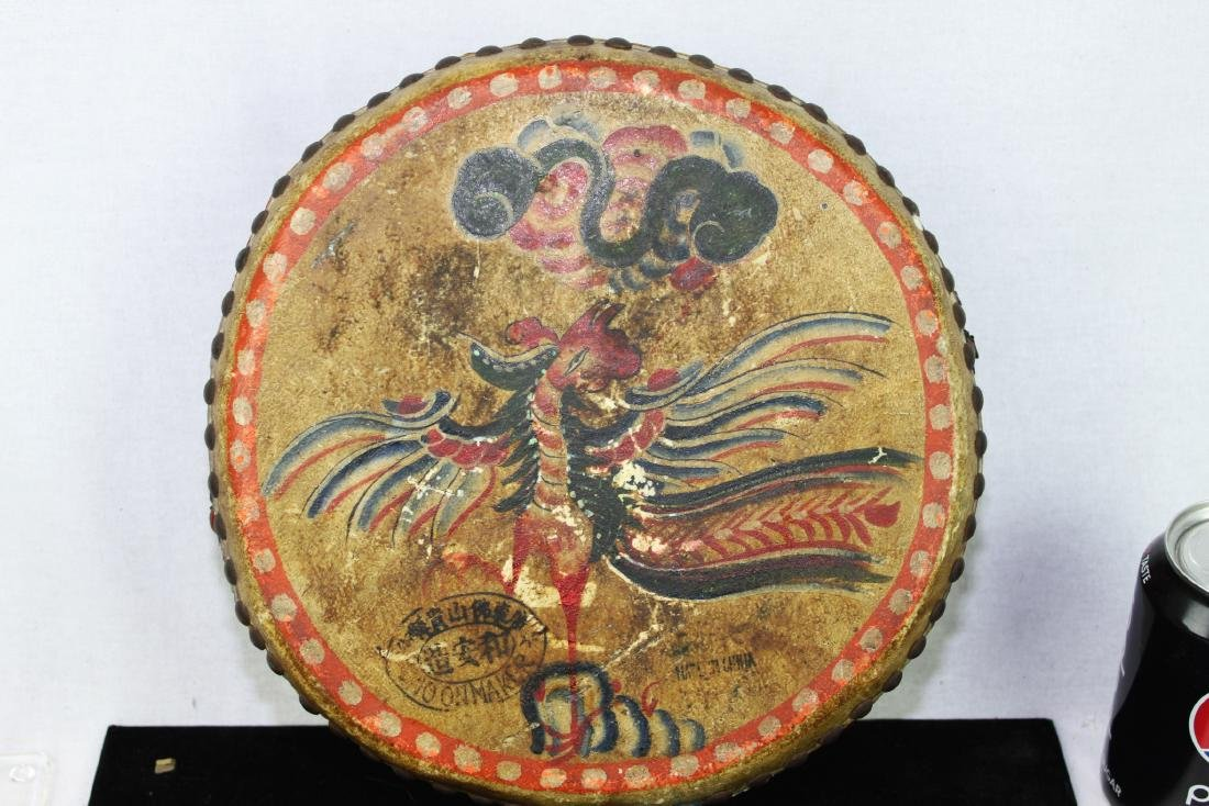 Antqiue Chinese Hand Leather Drums