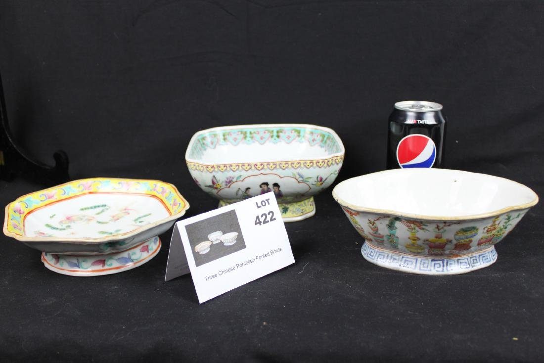 Three Antique Chinese Porcelain Plates
