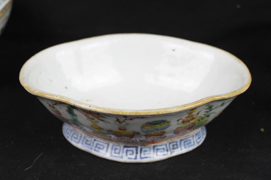 Three Antique Chinese Porcelain Plates - 2