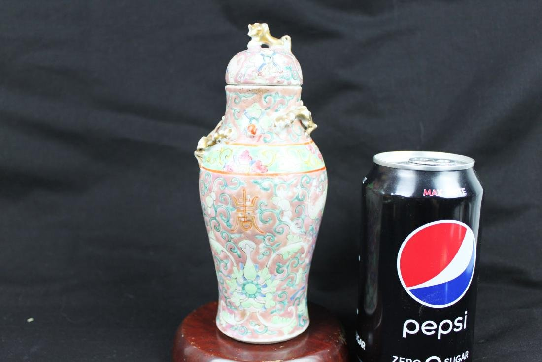 Antique Chinese Familie Rose Vase