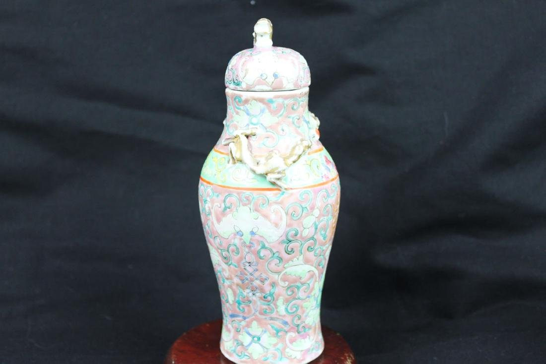 Antique Chinese Familie Rose Vase - 6