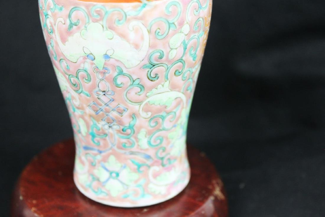 Antique Chinese Familie Rose Vase - 9