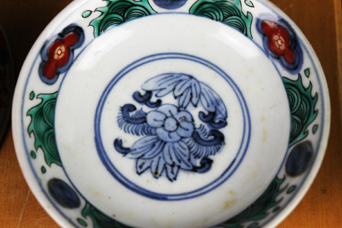 Three Antique Chinese Porcelain Bowl - 10