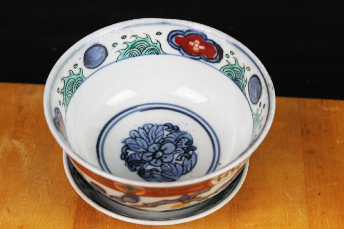 Three Antique Chinese Porcelain Bowl - 6
