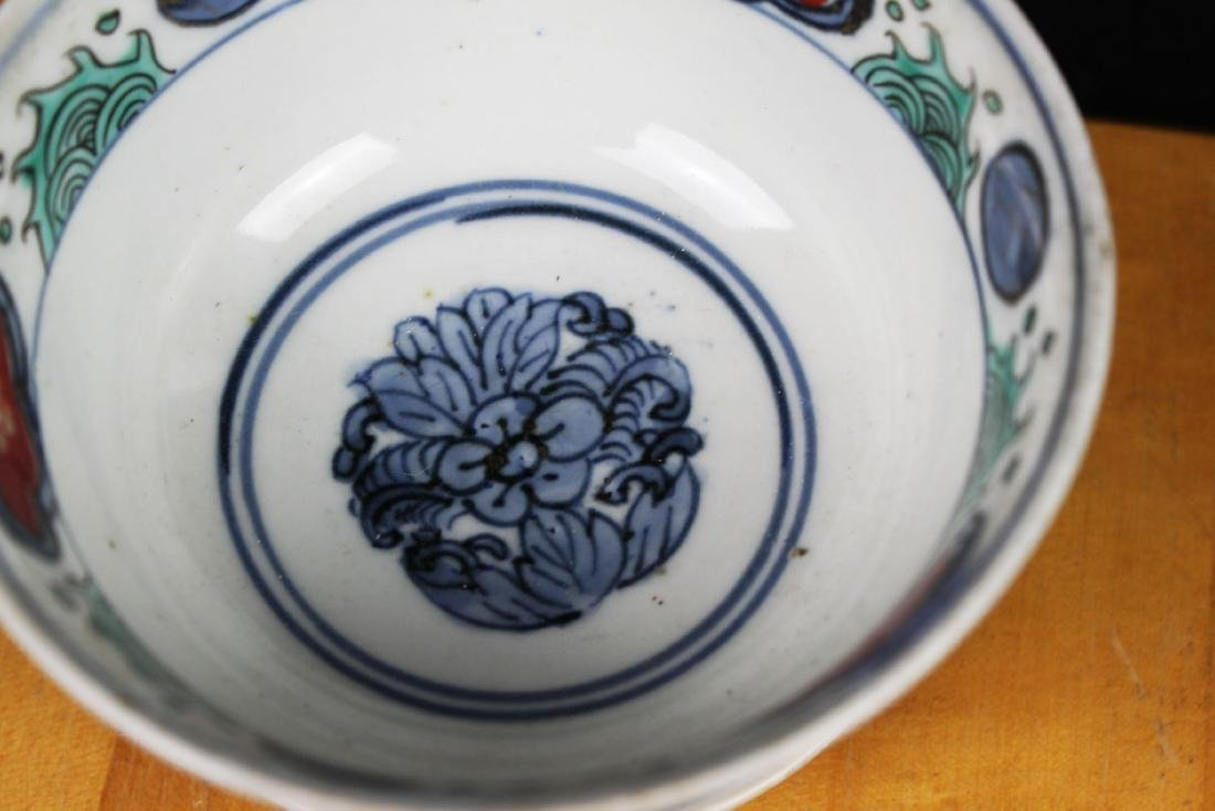 Three Antique Chinese Porcelain Bowl - 7