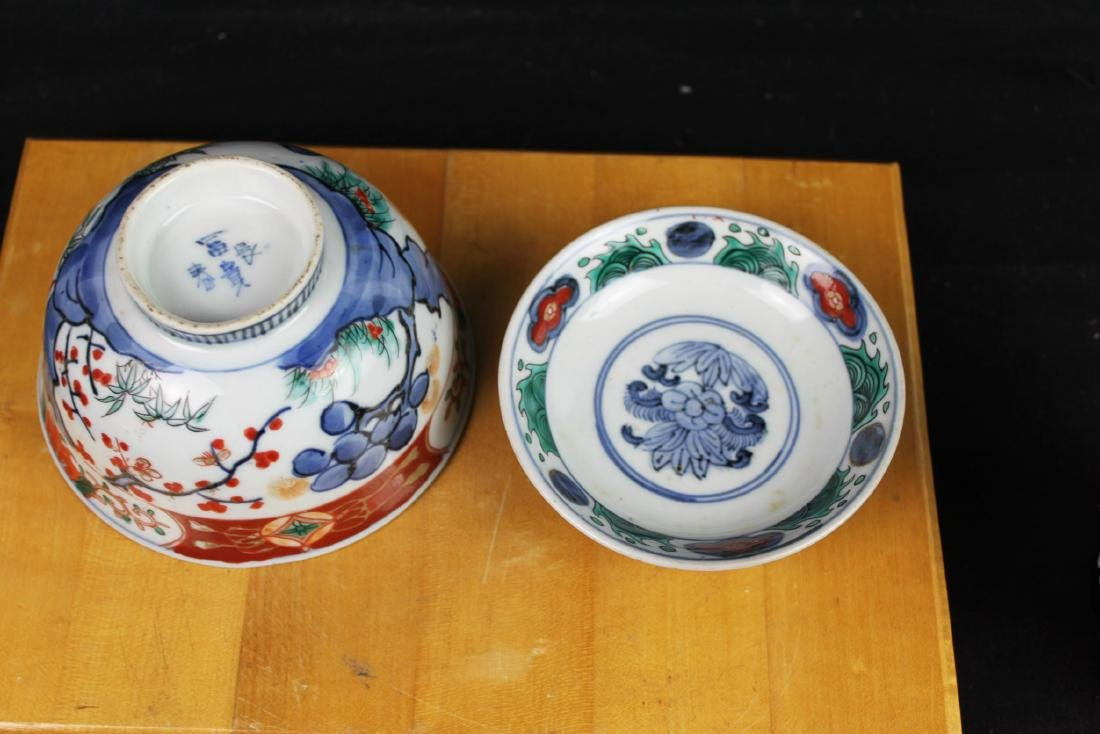 Three Antique Chinese Porcelain Bowl - 8
