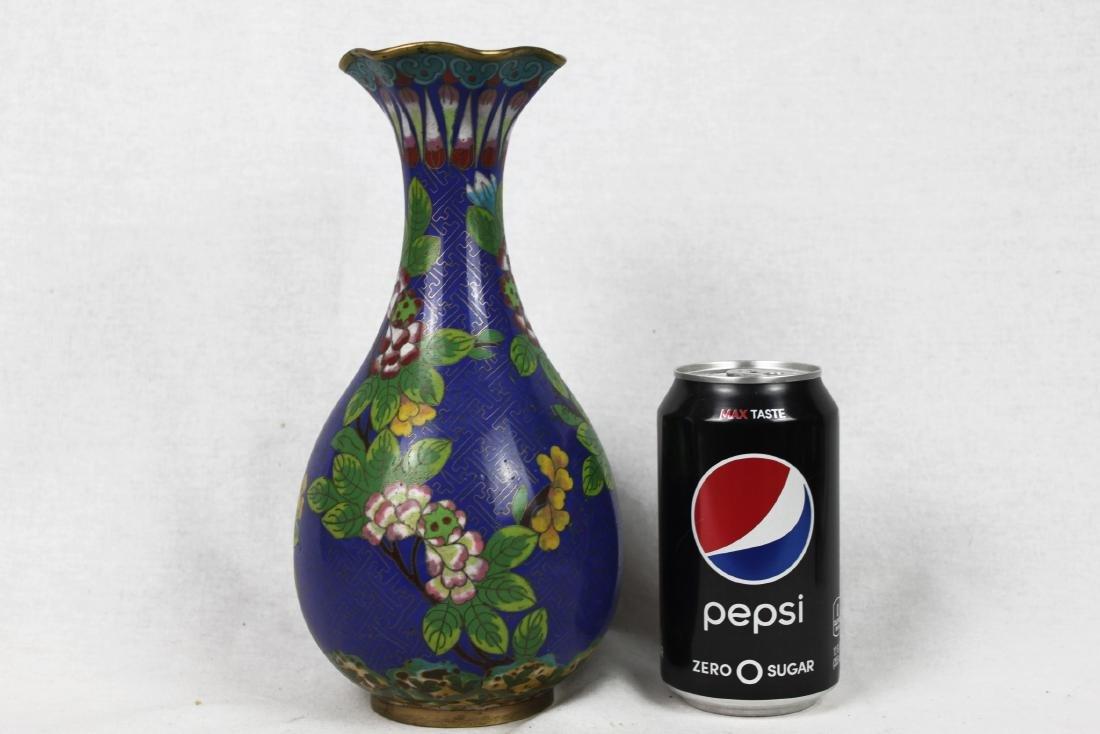 Chinese Blue Cloisonne Vase