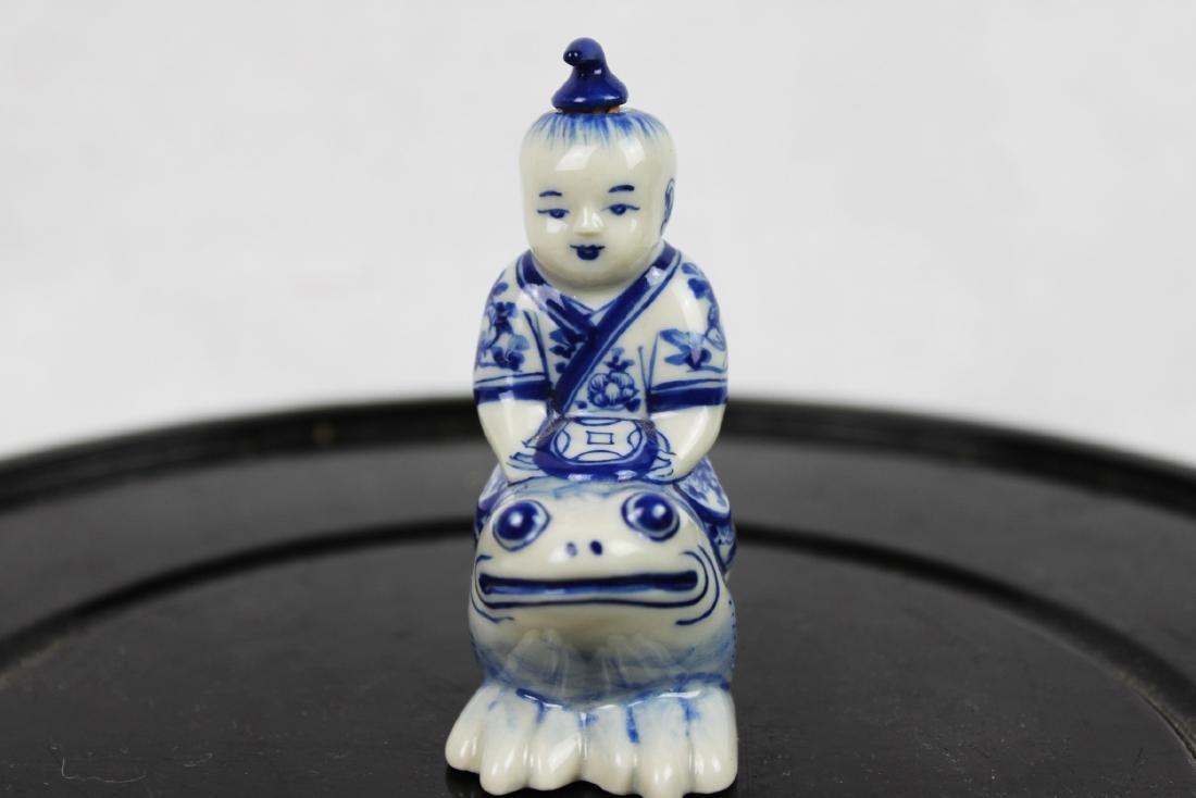 Blue&White Porcelain Snuff Bottle