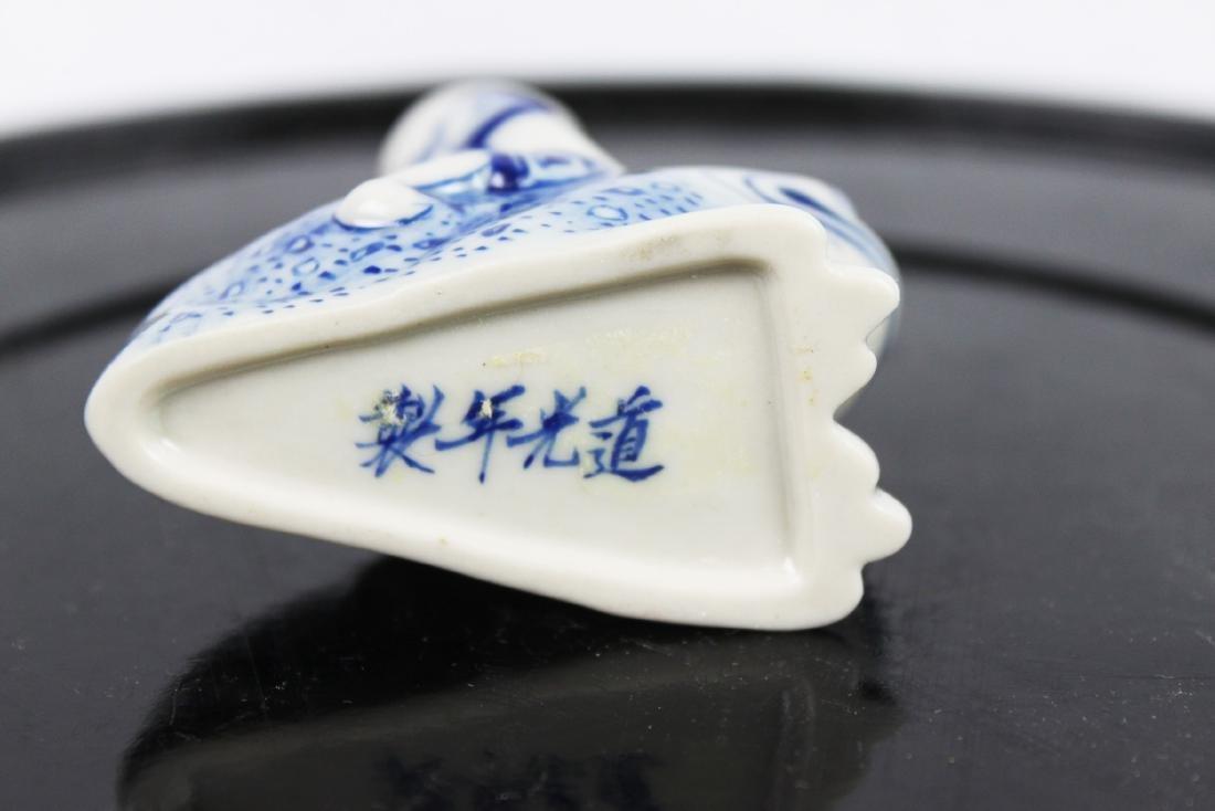 Blue&White Porcelain Snuff Bottle - 7