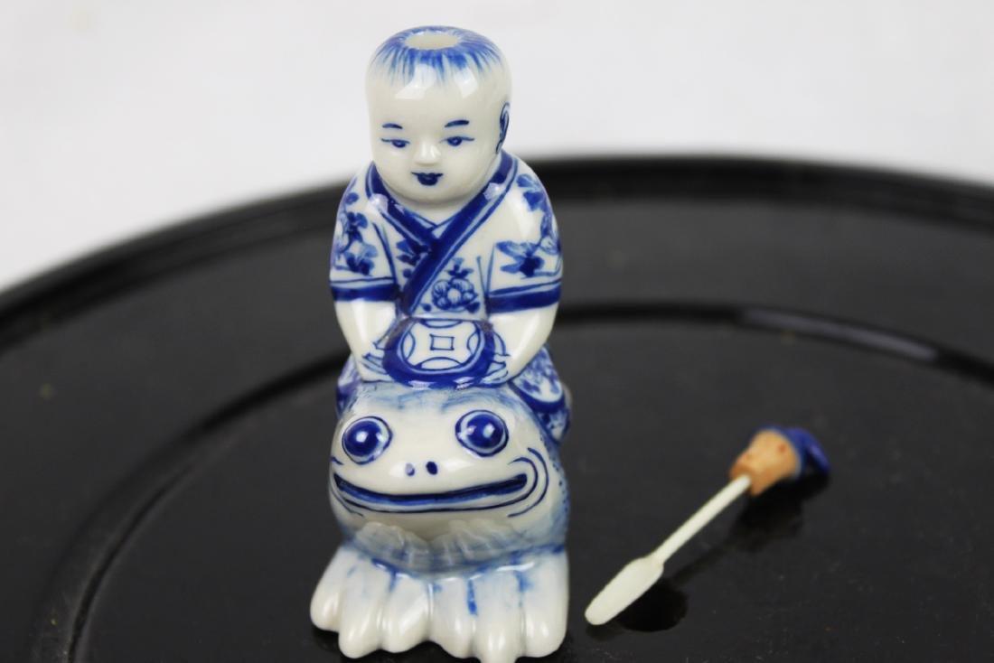 Blue&White Porcelain Snuff Bottle - 8