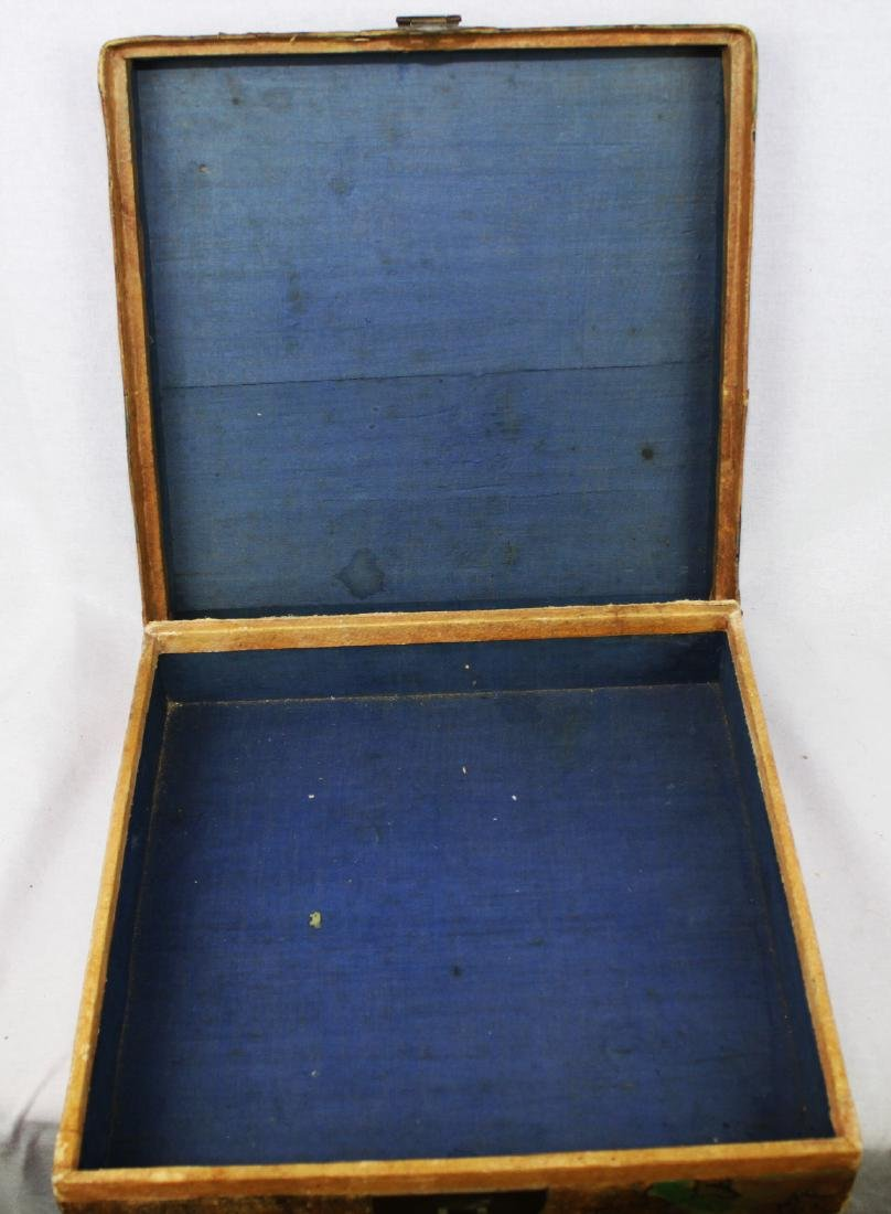 Antique Chinese Leather Box - 10
