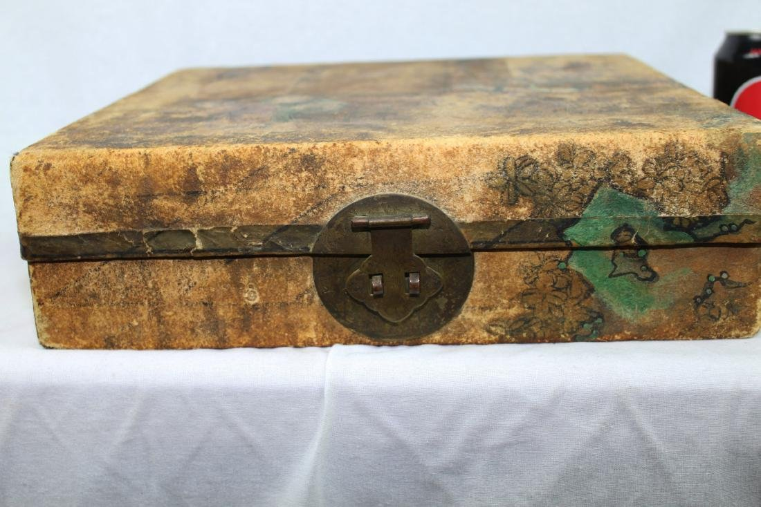 Antique Chinese Leather Box - 4
