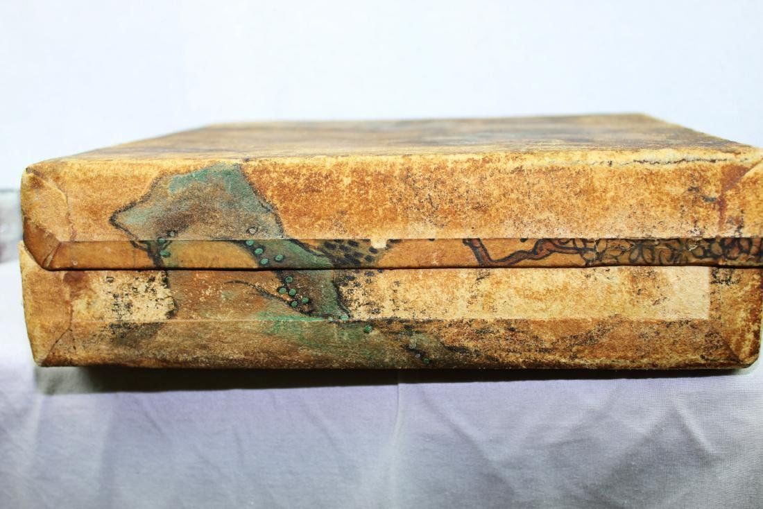 Antique Chinese Leather Box - 5