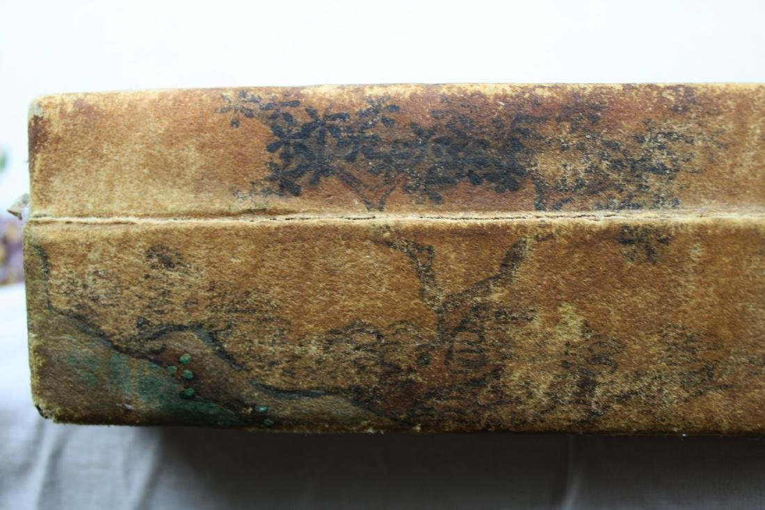 Antique Chinese Leather Box - 7