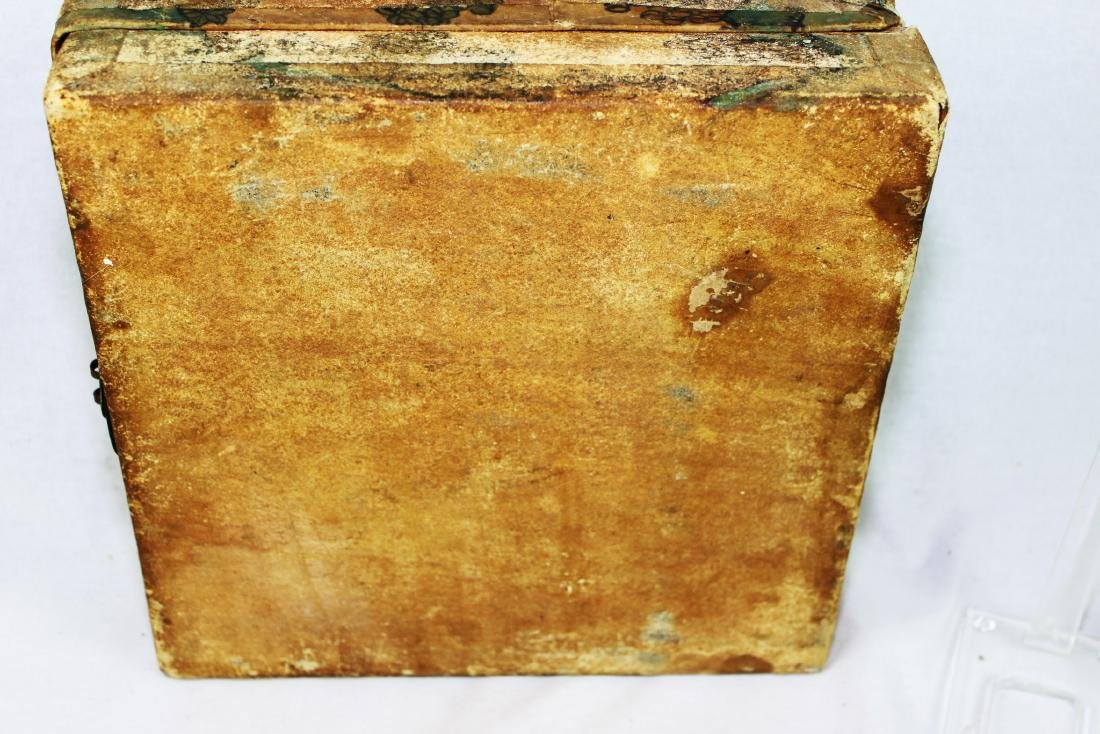Antique Chinese Leather Box - 9