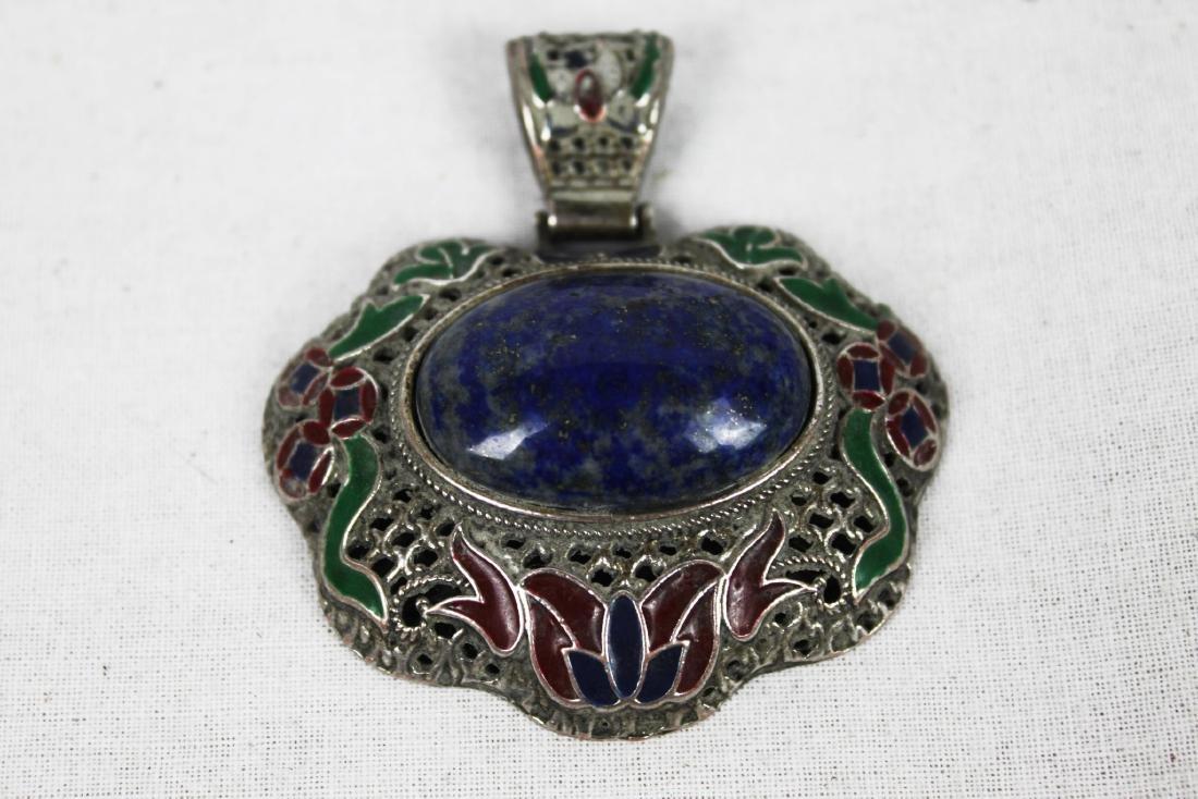 Blue Stone Necklace Pendant - 2