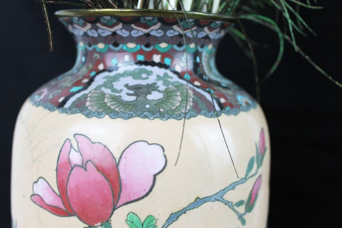 A Pair of Antique Chinese Cloisonne Vases - 2