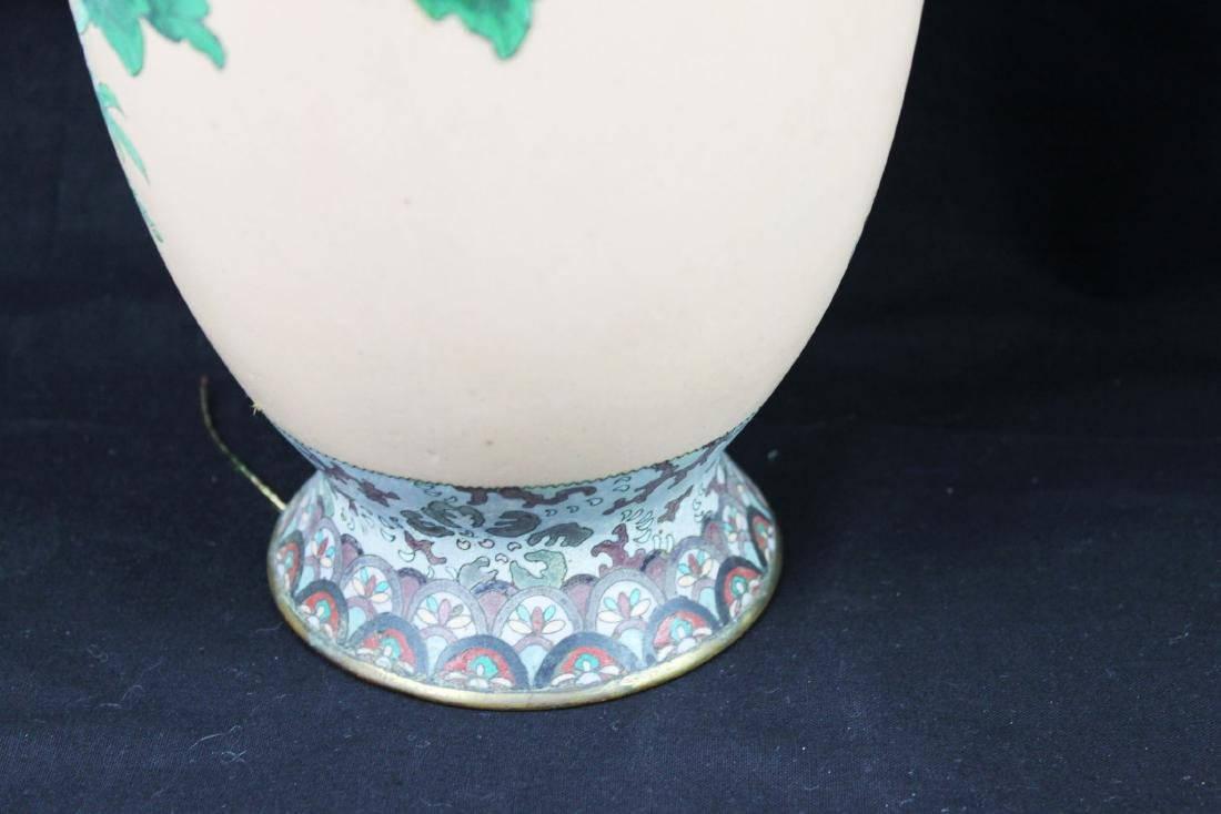 A Pair of Antique Chinese Cloisonne Vases - 6