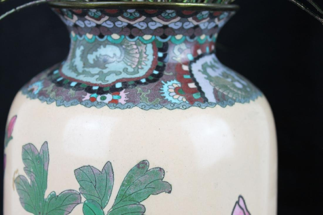 A Pair of Antique Chinese Cloisonne Vases - 8
