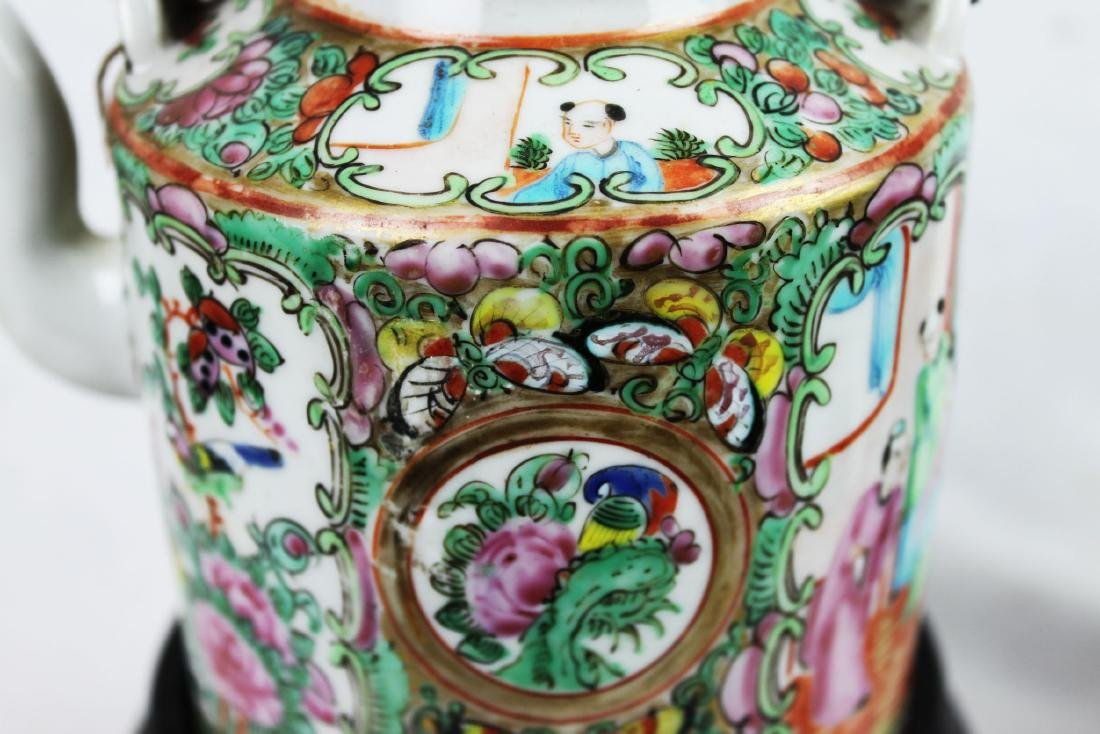 Antique Chinese Famillie Rose Teapot - 3