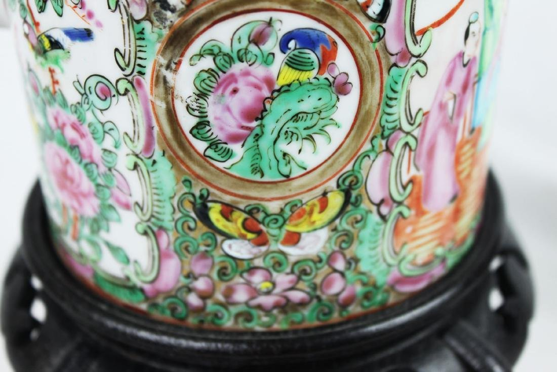 Antique Chinese Famillie Rose Teapot - 4