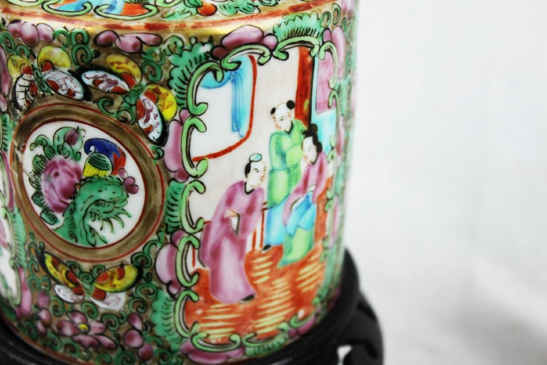 Antique Chinese Famillie Rose Teapot - 5