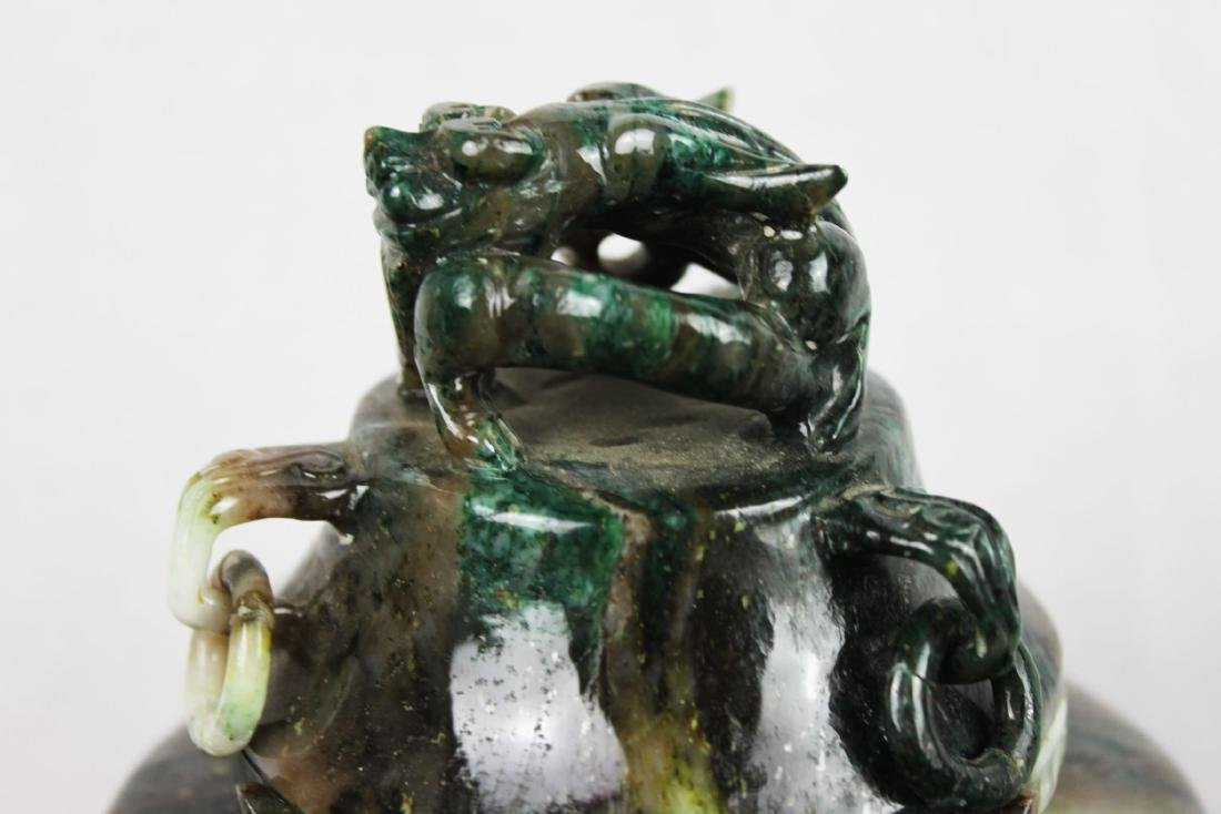 Hand Carved Chinese Jade Censor - 8
